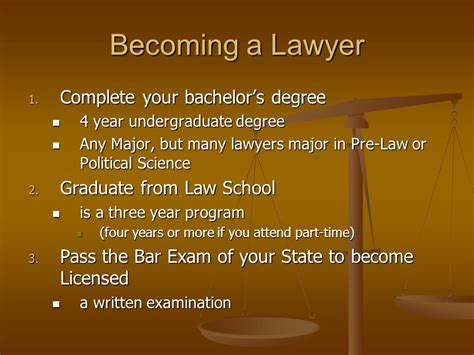 How Many Years Of College To Get An Mba by Lawyers The Career Path Ppt