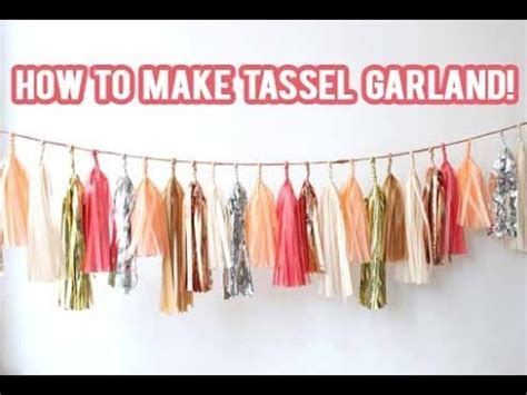 How To Make Paper Tassel Garland - diy how to make a tassel garland banner nicolematthews