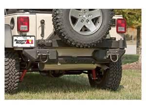 Rugged Ridge Rear Bumper Jk by Rugged Ridge Aluminum Wrangler Rear Bumper Pods 11547 01