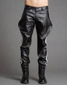 popular mens black leather pants buy cheap mens black