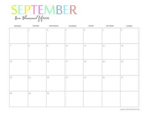 cute printable monthly planner 2015 7 best images of cute printable 2015 monthly calendar