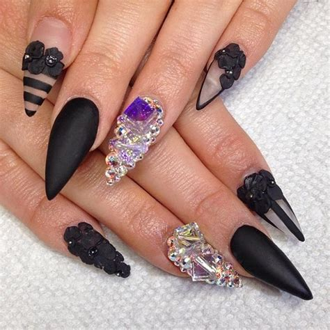 stunning pointy nail designs
