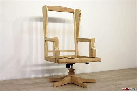 poltrone legno poltrone da ufficio e sedie in pelle classiche con girevole