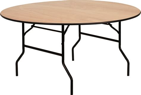 wood top folding table 60 wood folding banquet table with unfinished top