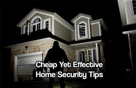 cheap yet effective home security tips shtf prepping
