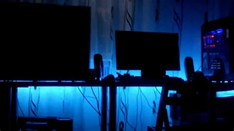How To Set Up Led Light Strips Rgb Led Desk Setup And Custom Pc Build