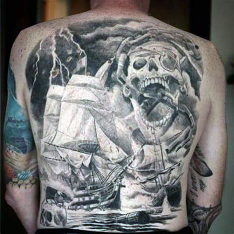 pirate tattoos for men 50 pirate tattoos for arrr ships and eye patches