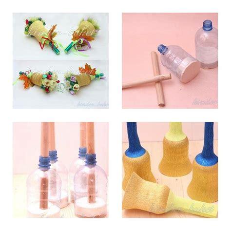 Bahan Deco Diy Deco Craft how to make plastic bottle bouquet holder step by step diy
