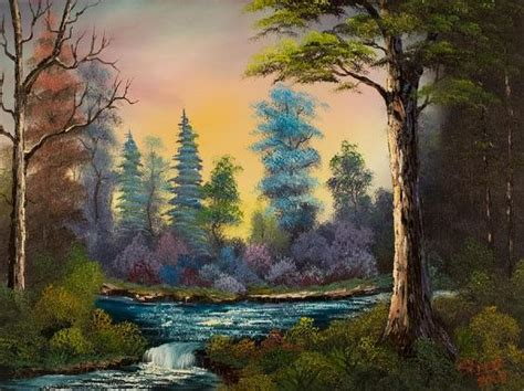 bob ross painting a waterfall bob ross paintings for sale waterfall 86008