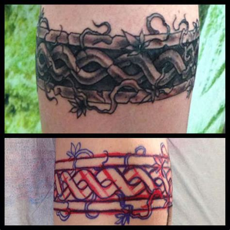 rope tattoo around wrist meaning 92 authentic celtic tattoos knot harp band