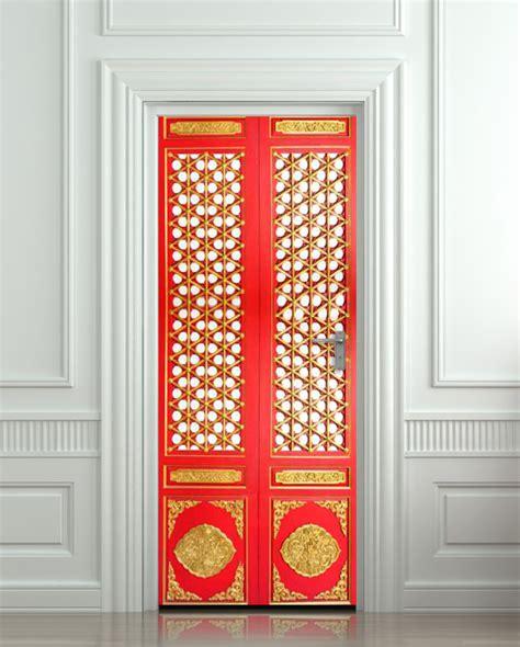 Door Stickers by Wall Door Sticker Door Ornamental Pattern Decole