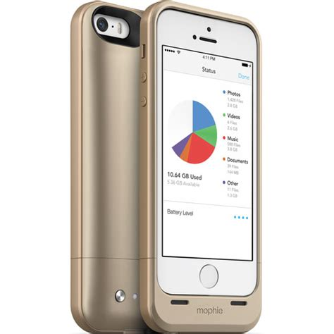mophie gb space pack  iphone  gold  bh photo