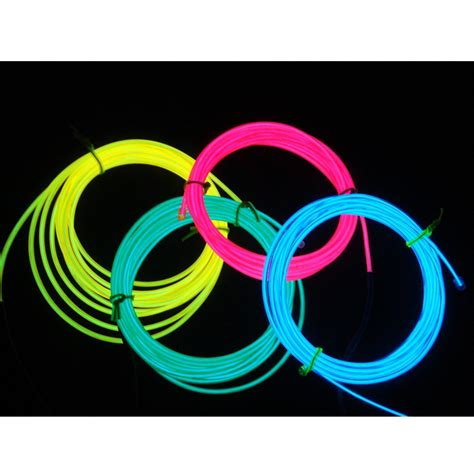 Led 3mm 3 Mm Warna Yellow Kuning Baru electroluminescent wire el wire diameter 2 3mm length 3m