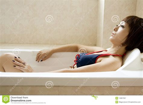 pretty woman bathtub beautiful woman in bathroom stock image image 14807357
