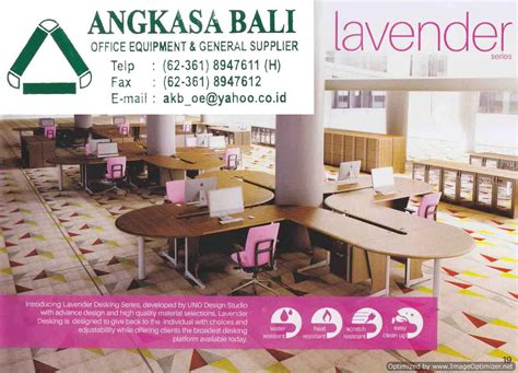 Jual Meja Kantor Murah Di Surabaya angkasa bali jual meja kantor uno lavender di bali 0361