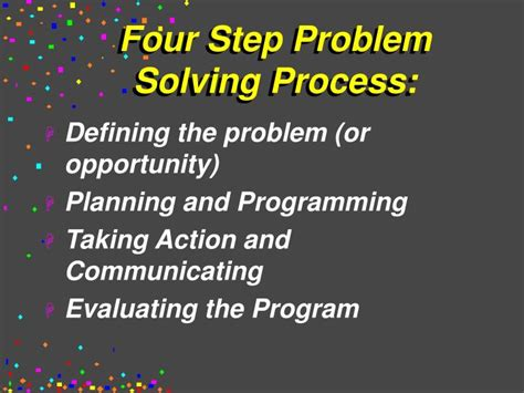4 steps to solving your problem the only troubleshooting resource you will need books ppt the management processes of relations