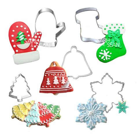 Cookie Cutter Natal Set 3 Pcs Stainless 5pcs set metal stainless steel merry series of