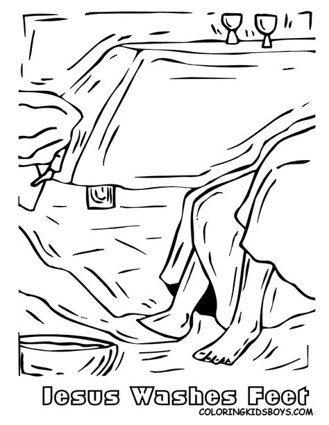 Jesus Washes Feet Coloring Page Home