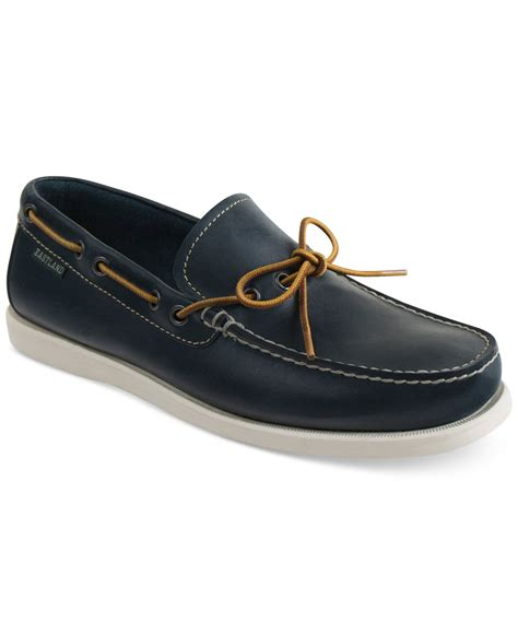 eastland s yarmouth boat shoes in blue for lyst