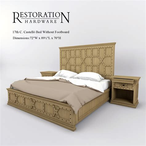 Bed Without Footboard by Restoration Hardware 17th C Bed Without Footboard