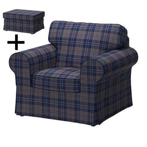 armchair and footstool ikea ektorp armchair and footstool cover chair ottoman slipcover rutna multi blue plaid