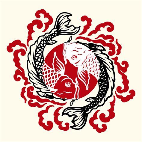 fish japanese tattoo   vectors clipart