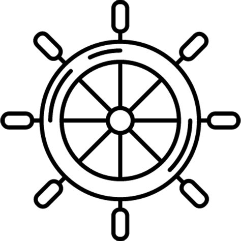 boat wheel outline boat rudder free vectors logos icons and photos downloads