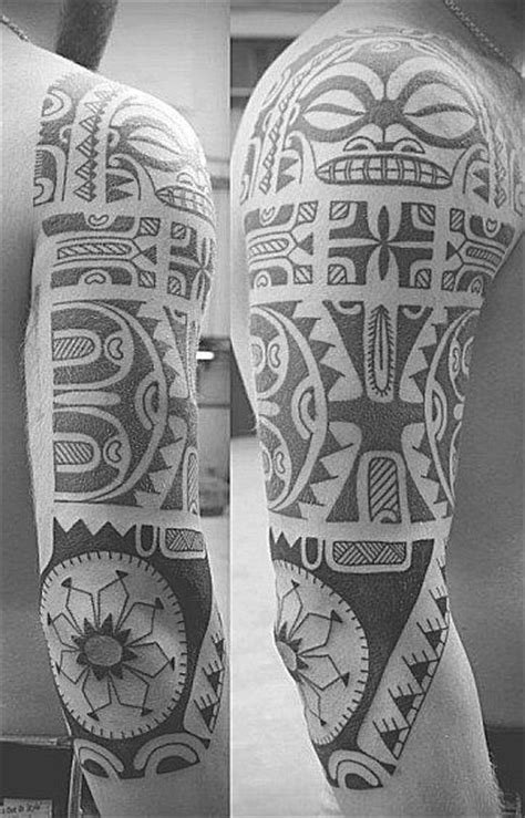 sacred tiki tattoo 1000 ideas about polynesian sleeve on