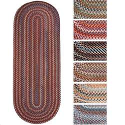 Wool Runner Rugs Rhody Rug Augusta Braided Wool Oval Runner 2 X 6 Ebay