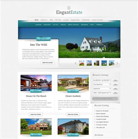 50 best real estate wordpress themes templates design