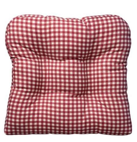Country Chair Cushions by 18 Quot Sq Country Gingham Buffalo Checks Gripper Dining Chair