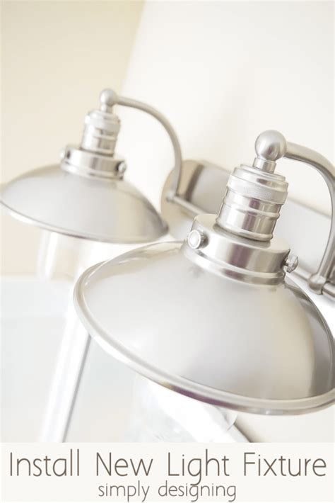 How To Install A Bathroom Light Fixture Install A New Bathroom Light Fixture