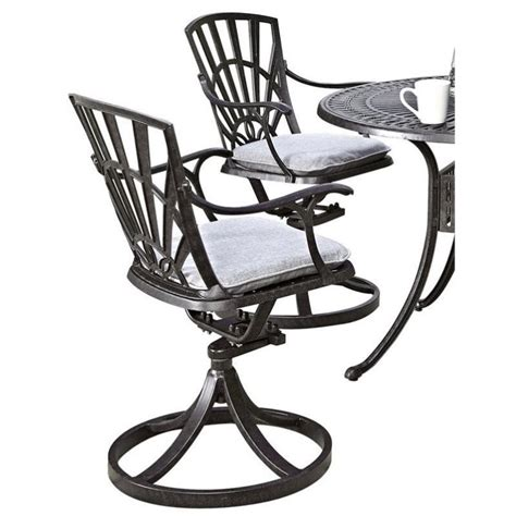 swivel patio dining chairs patio swivel dining chair with cushion in charcoal 5560 53c