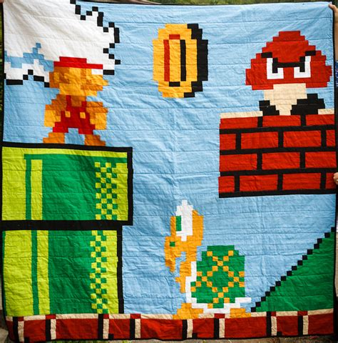 Mario Quilt by Mario Brothers Wedding Quilt Jackie Reeve