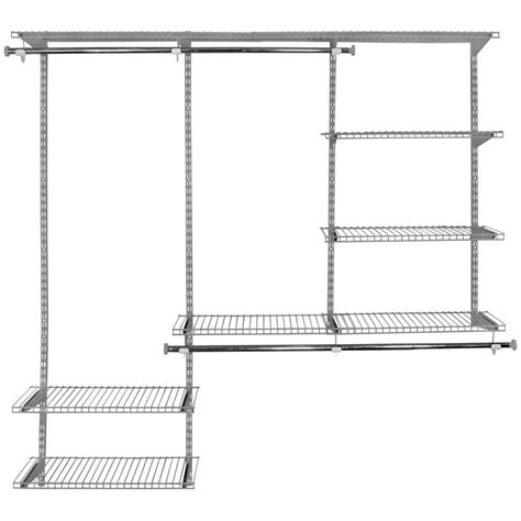 Rubbermaid Deluxe Closet Kit by Rubbermaid Configurations Custom Closet 3 6 Ft Deluxe