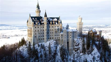bagna monaco di baviera zamek neuschwanstein zima niemcy