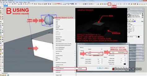 tutorial omni light vray sketchup how to manage intensity and shadows using omni lights in