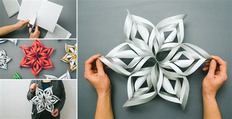 How To Make Large 3d Paper Snowflakes - how to make 3d paper snowflake diy crafts handimania