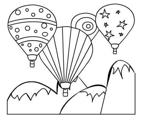 air balloon coloring page colorful air balloon printable coloring page for