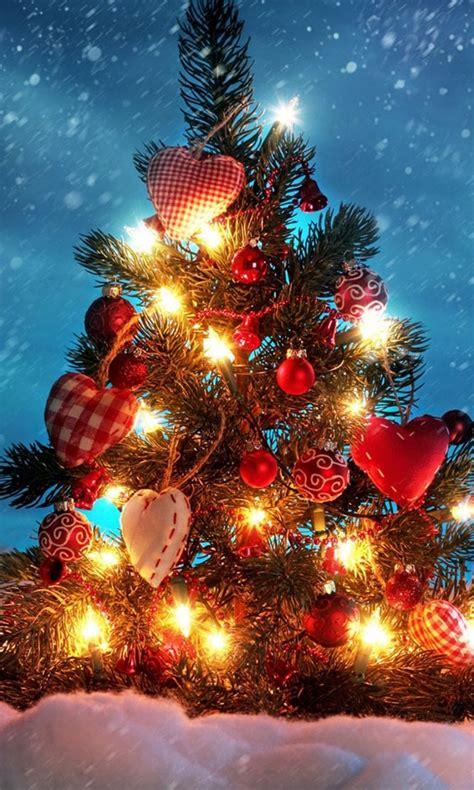 Lovely White Christmas Tree Lights #3: Christmas-tree-wallpaper-background-768x1280.jpg