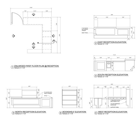 Reception Desk Plan Contract Documents Branch Library Jdldesign