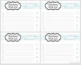 Wish List Template Printable by Blissful Keeper At Home Snowy Wish List Printables
