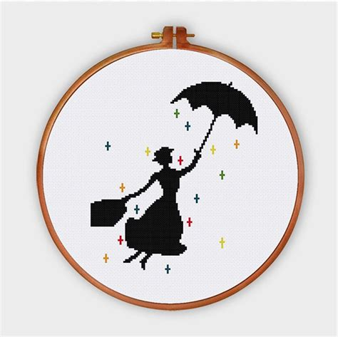 Sticken Vorlagen Modern Poppins Cross Stitch Pattern Pop Culture Modern Nursery Design