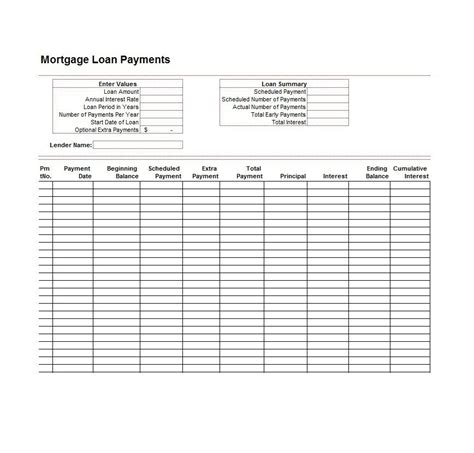 Excel Loan Amortization Schedule Download Mortgage Calculator Spreadsheetmicrosoft Excel Loan Free Loan Amortization Schedule Excel Template