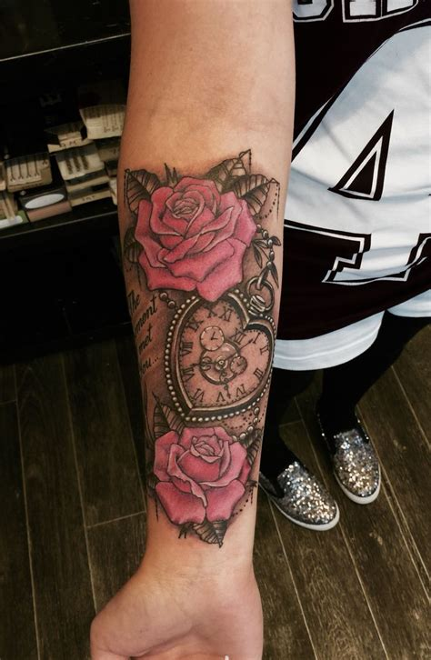 clock tattoos with roses 25 best ideas about clock tattoos on time
