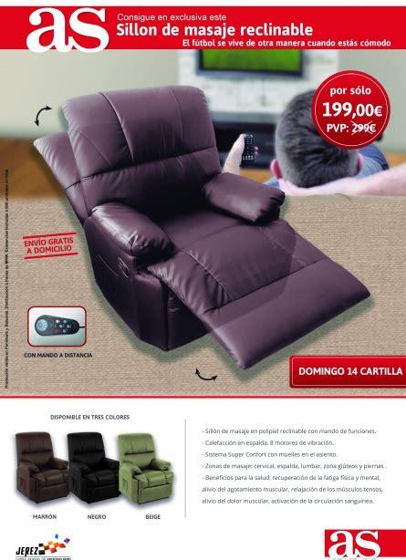sill 243 n de masaje reclinable promociones as