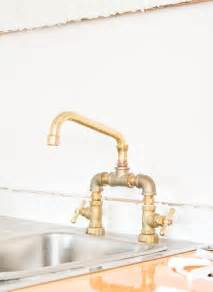 diy plumbing brass bridge faucet vintage revivals apartment therapy