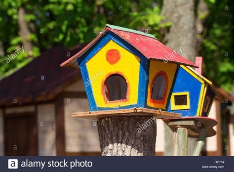 colorful bird houses colorful birdhouses stock photos colorful birdhouses