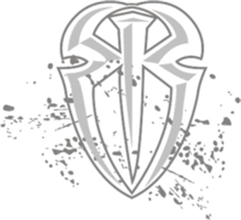 roman reigns logo outline pictures to pin on pinterest