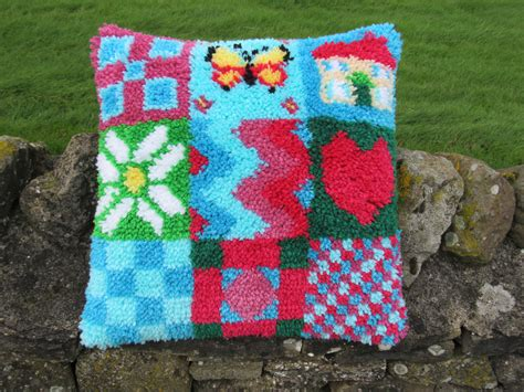 Patchwork Cushion Kits - patchwork hearts and homes cushion front kit medium large